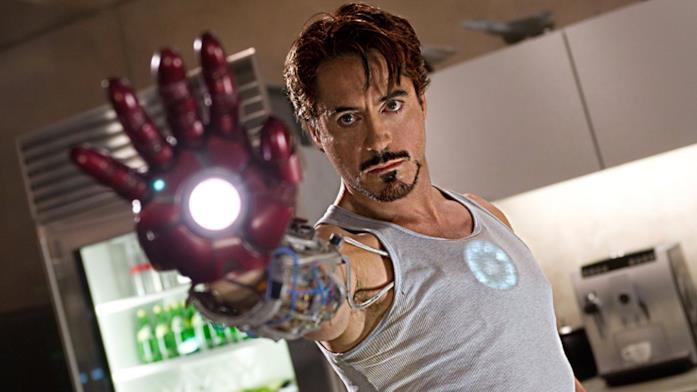 Robert Downey Jr. è Tony Stark in Iron Man del 2008