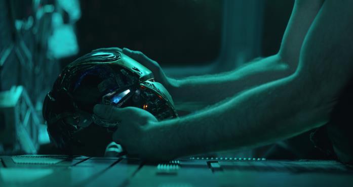 La maschera distrutta di Ironman