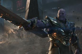 Thanos nella battaglia finale di Avengers: Endgame