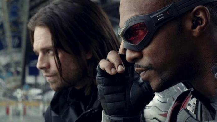 Sam Wilson e Bucky Barnes in una immagine dal film Captain America: Civil War