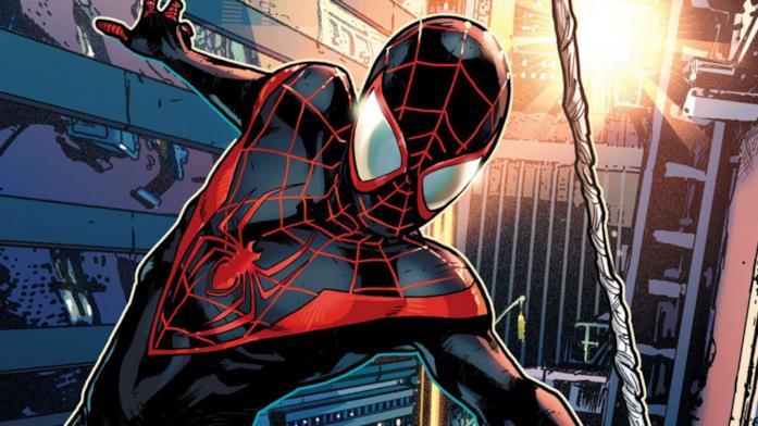 Miles Morales in una tavola Marvel Comics