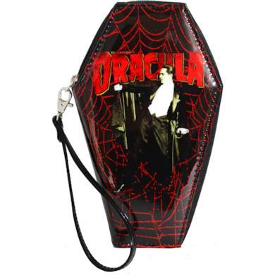 Universal Dracula Web Zip Around Coffin Wallet