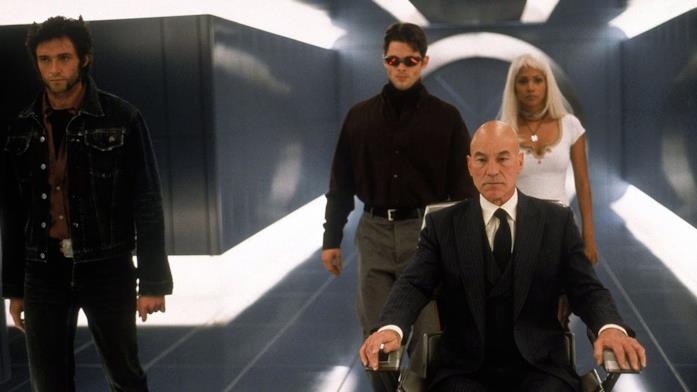 Wolverine, Ciclope, Xavier e Tempesta in X-Men