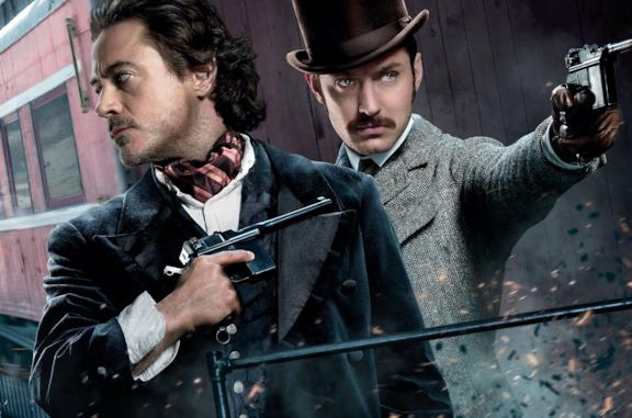 Robert Downey Jr. e Jude Law in Sherlock Holmes - Gioco di ombre