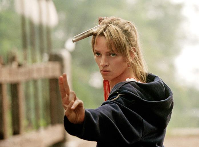 Uma Thurman in una scena del film  Kill Bill - Volume 2