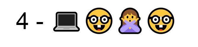 Emoji Computer nerd ragazza a braccia incrociate nerd