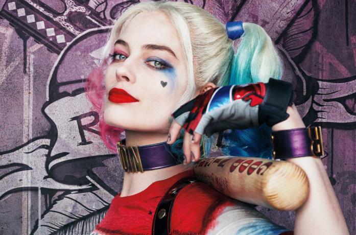 Un'immagine di Harley Quinn nel poster di Suicide Squad