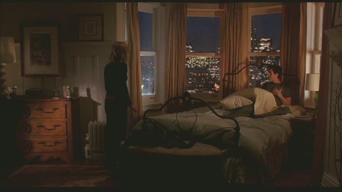 Una scena in camera da letto in Se solo fosse vero