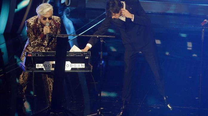 Morgan e Bugo sul palco di Sanremo