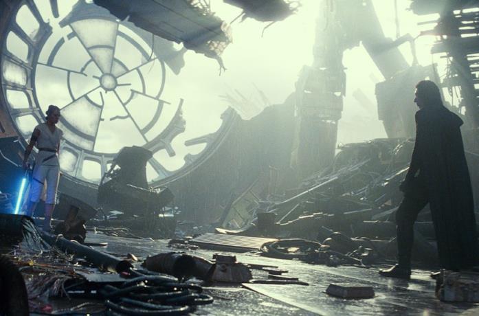 Rey e Kylo Ren faccia a faccia nell'ultimo film