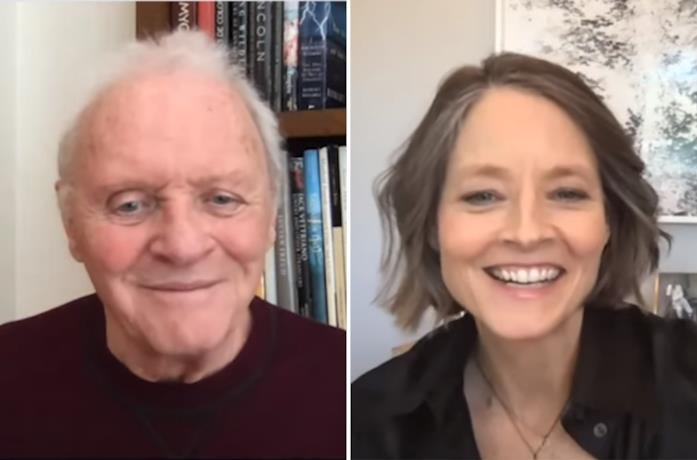 Anthony Hopkins e Jodie Foster nella reunion dei 30 anni de Il Silenzio degli innocenti