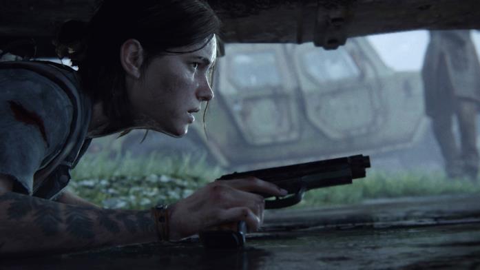 Ellie in una scena da The Last of Us - Part II