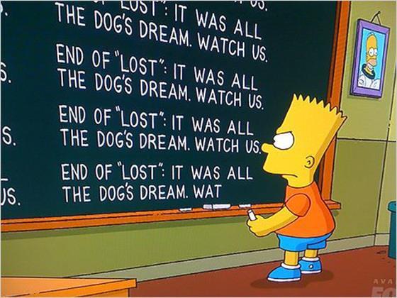 I Simpson: la frase di Bart sul finale di Lost