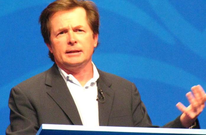 Michael J. Fox a una conferenza pubblica
