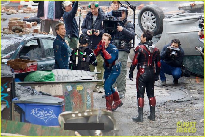 Vendicatori uniti sul set di Avengers 4