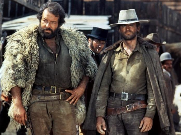 Bud Spencer e Terence Hill in una scena del film Dio perdona... io no!