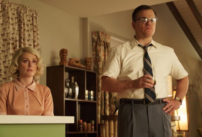Garnder Lodge e Margaret in una scena di Suburbicon