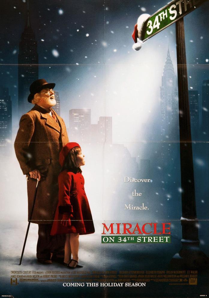 Il poster di Miracolo nella 34ª strada