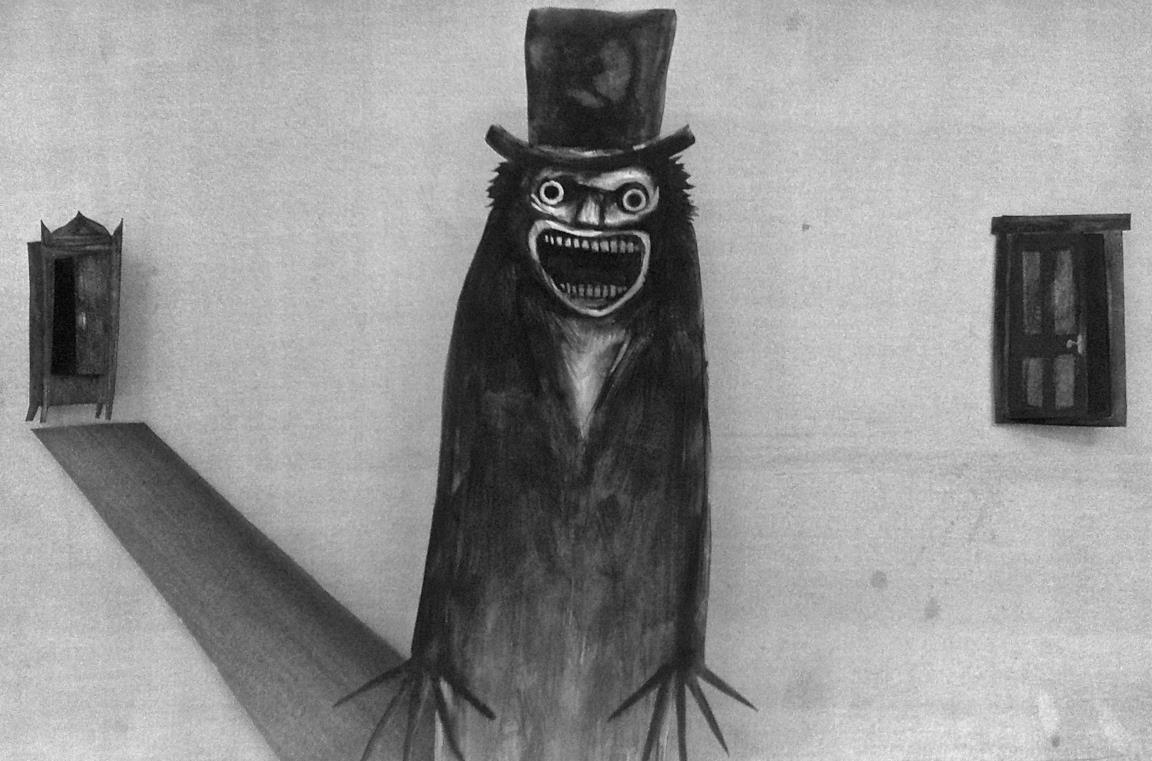 """Il Babadook in una delle pagine del libro pop-up """"Mr. Babadook"""""""