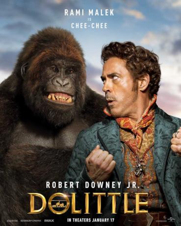 Il Dottor Dolittle con un gorilla