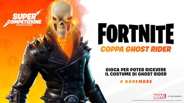 Il banner della Coppa Ghost Rider