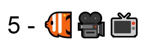 Emoji pesce telecamera televisione