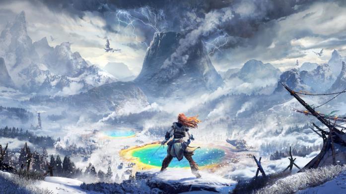 Aloy sulla copertina ufficiale di Horizon Zero Dawn: The Frozen Wilds