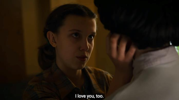 Eleven e Mike nella scena finale di Stranger Things 3