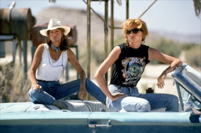 Una scena di Thelma & Louise