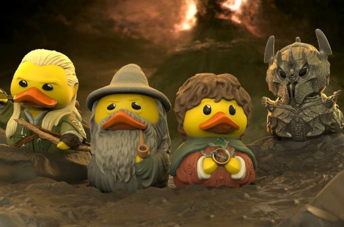 Le quattro paperelle da bagno del Signore degli Anelli