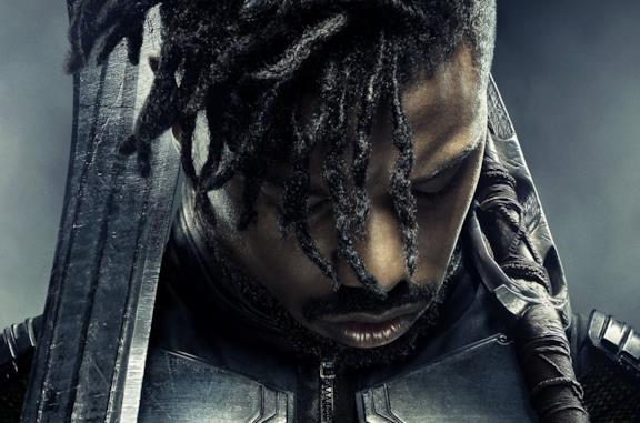 Michael B. Jordan in Black Panther come Killmonger