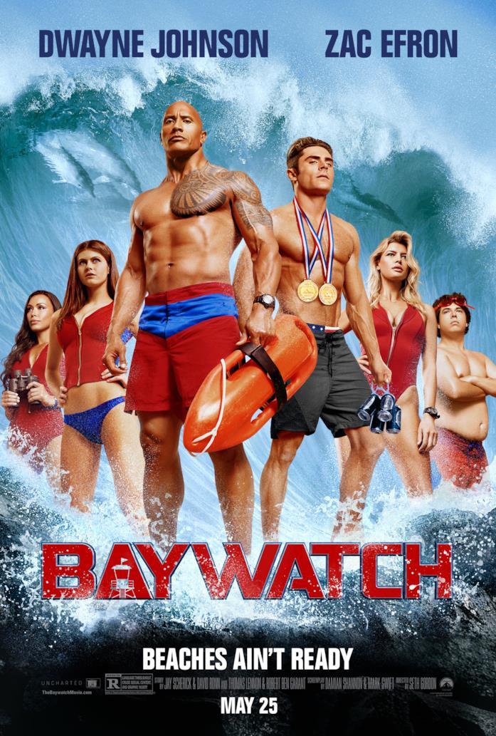 La cover del film di Baywatch