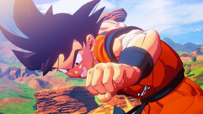 Son Goku nel videogioco Dragon Ball Z Kakarot