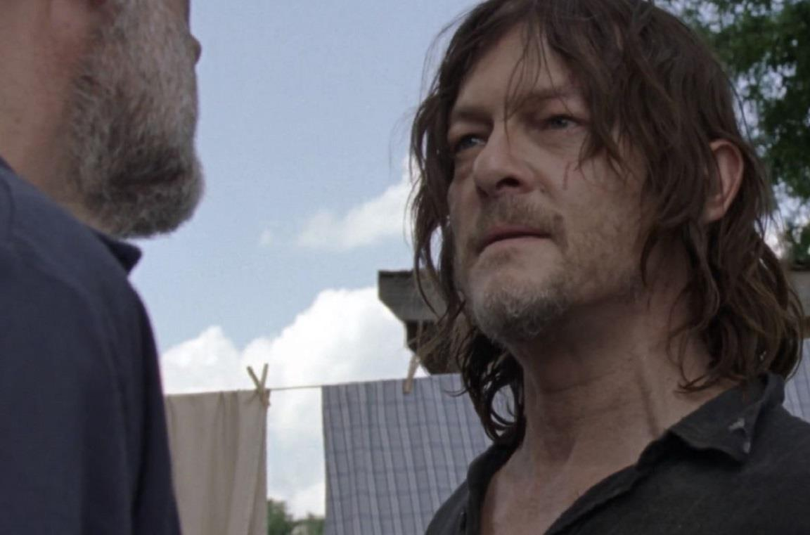 Daryl affronta Negan in The Walking Dead 10