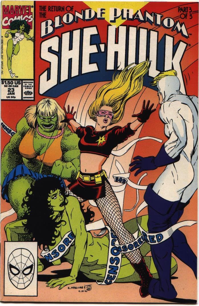 La cover del fumetto in cui ci sono She-Hulk e The Blonde Phantom