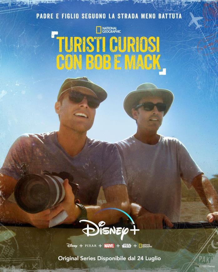 La locandina della serie documentario Turisti curiosi con Bob e Mack