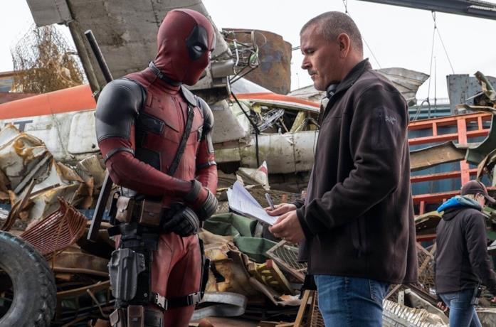 Ryan Reynolds e Timm Miller sul set del film Deadpool