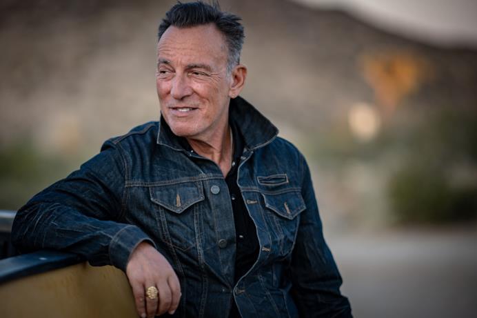 Un primo piano di Bruce Springsteen