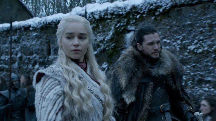 Jon e Daenerys arrivano a Grande Inverno