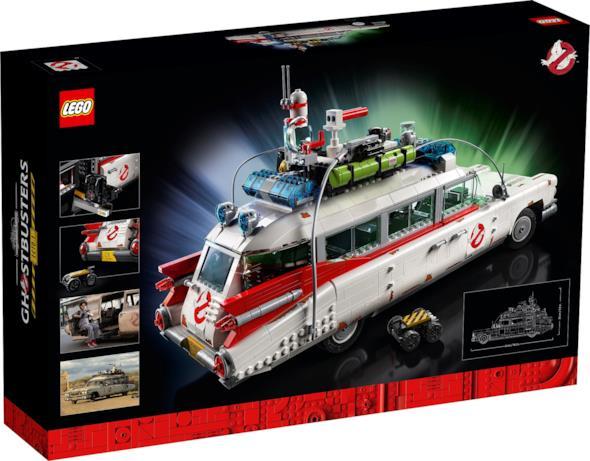 una foto del retro della scatola della Ghostbusters Ecto-1 LEGO