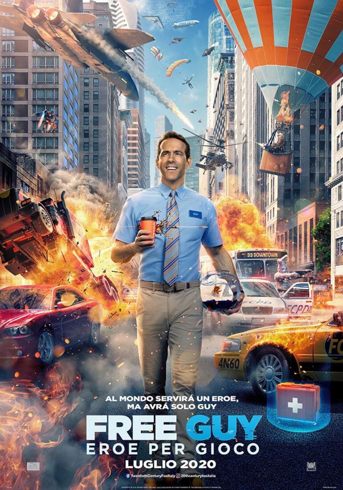 Free Guy la cover cinematografica del film