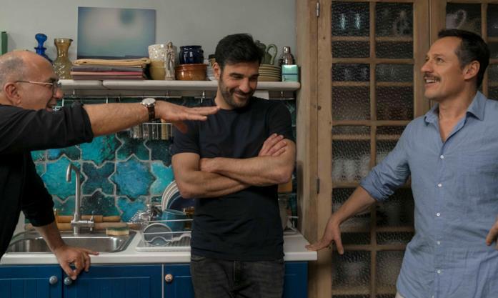 Stefano Accorsi, Edoardo Leo e Ferzan Özpetek sul set di La Dea Fortuna