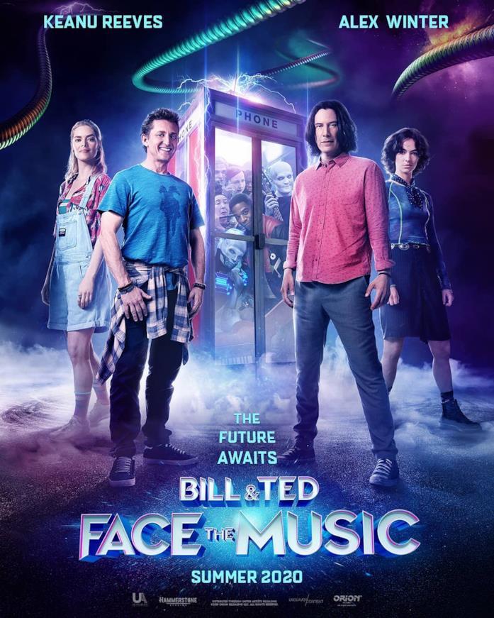 I protagonisti sulla locandina di Bill & Ted Face the Music