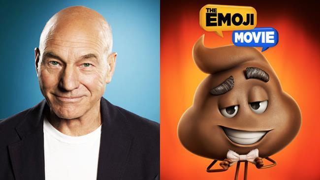 Sir Patrick Stewart doppia Poo nel film in Emoji: Accendi le Emozioni