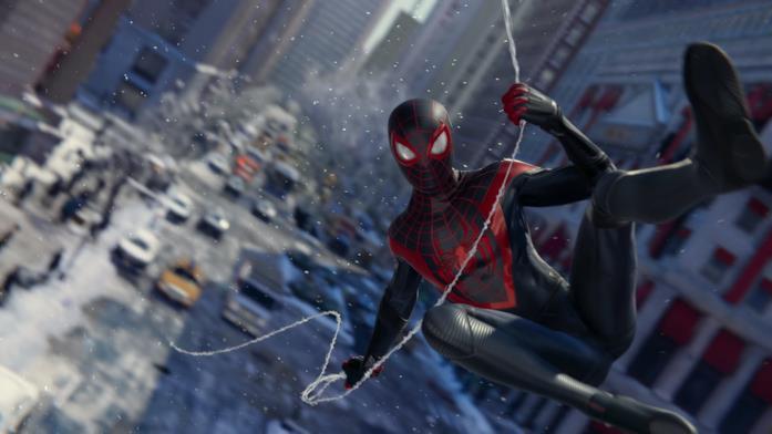 Miles Morales in uno screen di gioco di Marvel's Spider-Man - Miles Morales per PS5