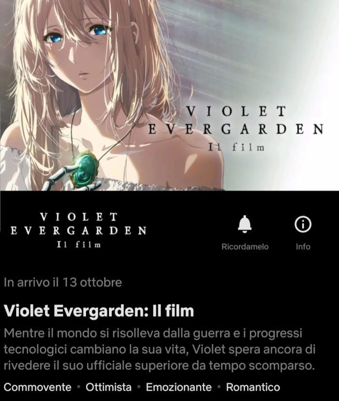 Confermata la data di uscita su Netflix di Violet Evergarden: Il film