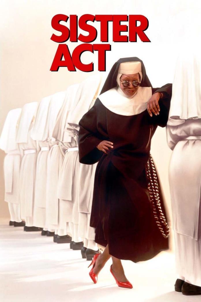 Whoopi Goldberg nel poster di Sister Act
