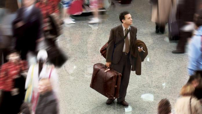 Tom Hanks nella locandina di The Terminal