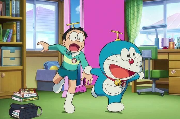 Doraemon e gli altri personaggi del manga