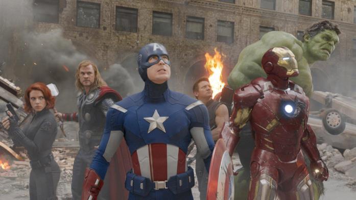 Gli Avengers originali nel film del 2012